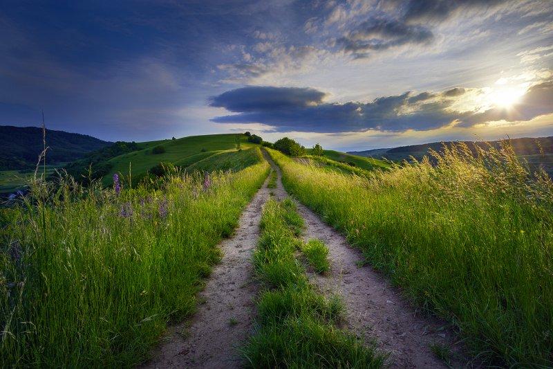 Walking over Hills